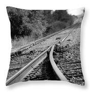 The Iron Road Throw Pillow