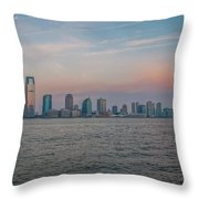 The Island Of Manhattan Throw Pillow