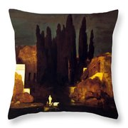 The Isle Of The Dead 1880 Throw Pillow