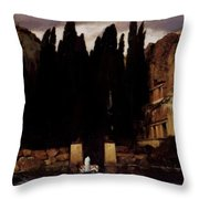 The Isle Of The Dead 1886 Throw Pillow