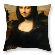 The Isleworth Mona Lisa Throw Pillow