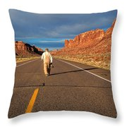 The Itinerant Photographer Throw Pillow