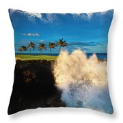 The Jack Nicklaus Signature Hualalai Golf Course Throw Pillow