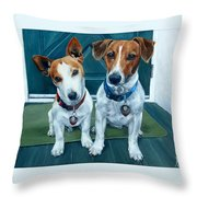The Jack Russel Duo Throw Pillow