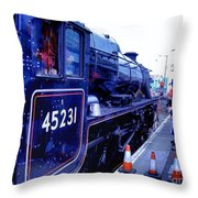 The Jacobite At Mallaig Station Platform 2 Throw Pillow
