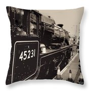 The Jacobite At Mallaig Station Platform 4 Throw Pillow