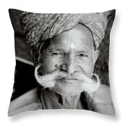 The Jain Man Throw Pillow