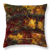 The Japanese Footbridge - Giverny Throw Pillow