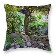 The Japanese Garden Throw Pillow