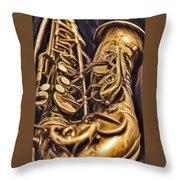The Jazz Machine Throw Pillow