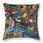 The Jazz Orchestra Throw Pillow