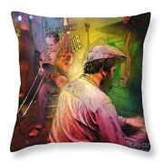 The Jazz Vipers In New Orleans 01 Throw Pillow