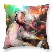 The Jazz Vipers In New Orleans 04 Throw Pillow