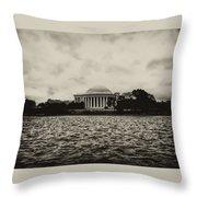 The Jefferson Memorial Throw Pillow
