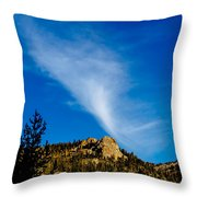 The Jet Strean Up At 10000 Ft Throw Pillow