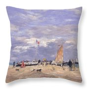 The Jetty At Deauville Throw Pillow