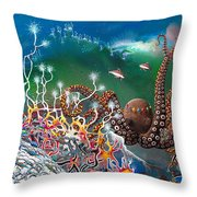 The Jeweled Octopus Throw Pillow