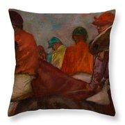 The Jockeys Throw Pillow