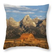 The John Moulton Barn Throw Pillow