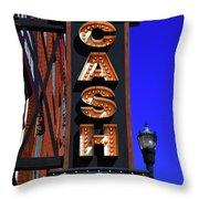 The Johnny Cash Museum - Nashville Throw Pillow