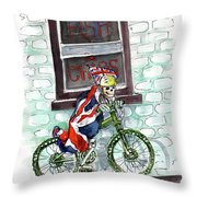 The Jolly Fryer In Ripon Throw Pillow
