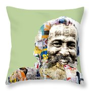 The Journalist Throw Pillow