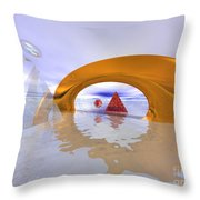 The Journey Beyond Throw Pillow