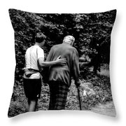 The Journey Bw Throw Pillow