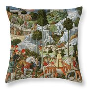 The Journey Of The Magi To Bethlehem Throw Pillow