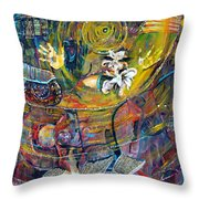 The Journey Throw Pillow by Peggy  Blood