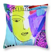 The Joy Of Contemplation And Color Throw Pillow