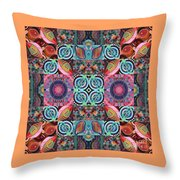 The Joy Of Design Mandala Series Puzzle 7 Arrangement 1 Throw Pillow