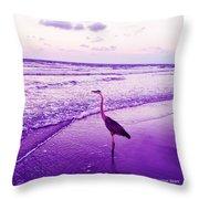 The Joy Of Ocean And Bird 2 Throw Pillow