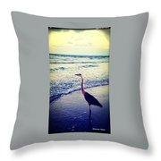 The Joy Of Ocean And Bird Throw Pillow