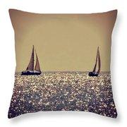 The Joy Of Sailing Throw Pillow