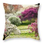 The Joy Of Spring Throw Pillow