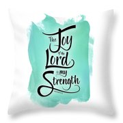 The Joy Of The Lord Throw Pillow by Shevon Johnson