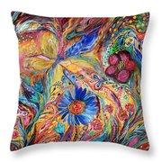 The Joyful Iris Throw Pillow