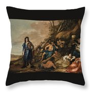 The Judgement Of Midas In The Contest Between Apollo And Pan Throw Pillow