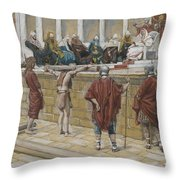 The Judgement On The Gabbatha Throw Pillow