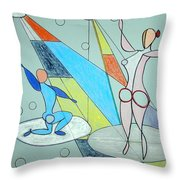 The Jugglers Throw Pillow