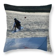 The Jump Throw Pillow