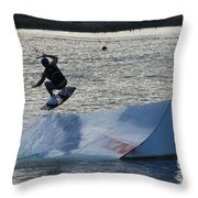 The Jumper Throw Pillow