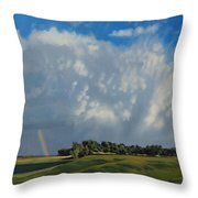 The June Rains Have Passed Throw Pillow