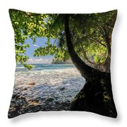 The Jungle At Onomea Bay  Throw Pillow