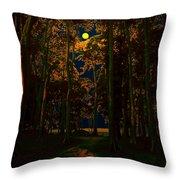 The Jungle Moon Throw Pillow