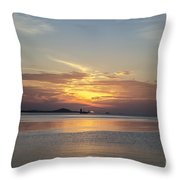 The Junk At Sunset Throw Pillow