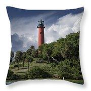 The Jupiter Inlet Lighthouse Throw Pillow