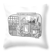 The Justus System Throw Pillow