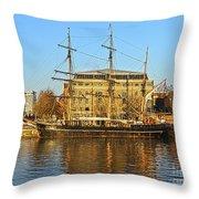 The Kaskelot In Bristol Dock Throw Pillow